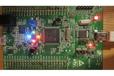 STM32F4discovery Первый проект. Мигаем диодом