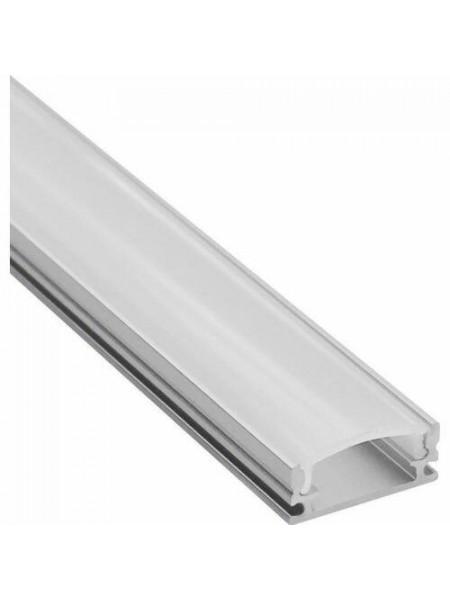 Накладной профиль для светодиодной ленты с рассеивателем 2м