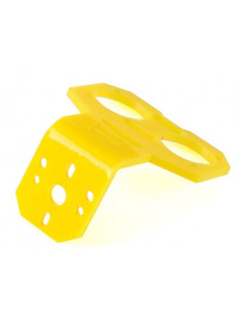 Держатель для дальномера HC-SR04, желтый пластик