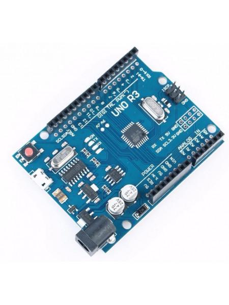Arduino UNO R3 (Arduino-совместимая) micro-usb с проводом