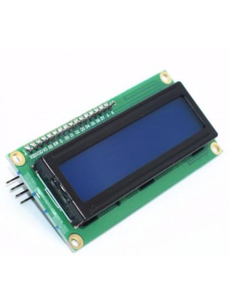 LCD дисплей 1602, HD44780, 16 символов, 2 строки, синий