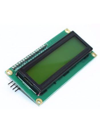 LCD дисплей 1602, HD44780, 16 символов, 2 строки, зеленый