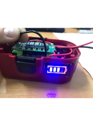 Индикатор заряда аккумулятора 3S 12.6В (синий)