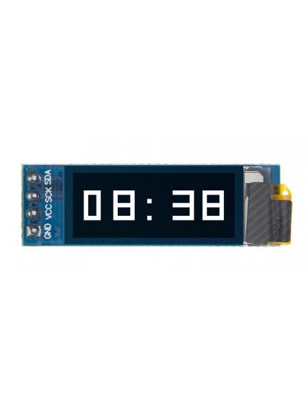 OLED дисплей 128x32 0.91 дюйм, I2C, монохромный белый
