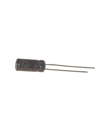 Конденсатор электролитический 47мкФ 16В ±20%