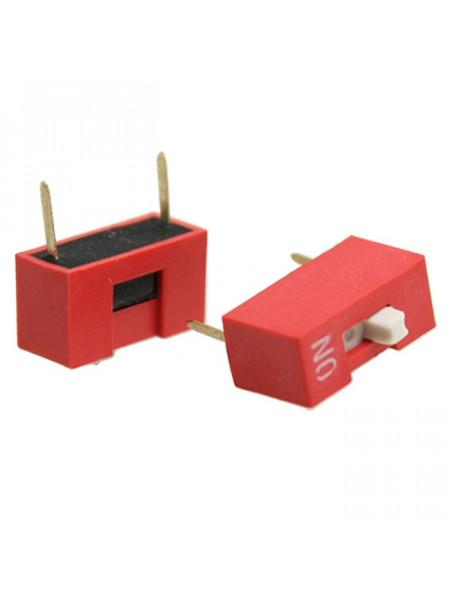DIP переключатель 1pin красный (dip switch)