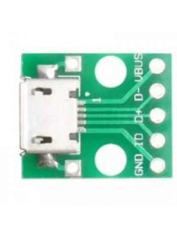 MicroUSB DIP адаптер (разъем на плате)