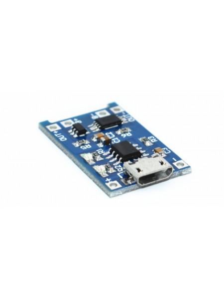 Модуль заряда TP4056 (microUSB) с защитой