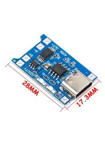 Модуль заряда TP4056 (USB Type-C) с защитой