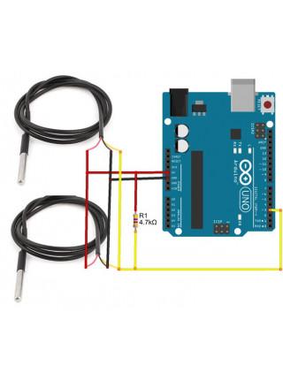ds18b20 цифровой датчик температуры (в металлической гильзе)