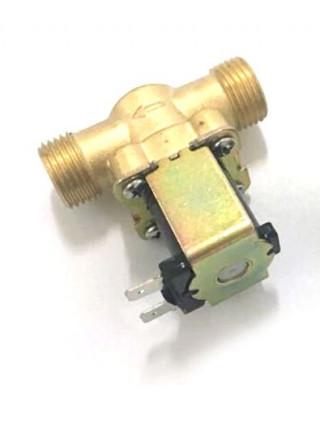 """Электромагнитный водопроводный клапан 1/2 """" металл 12В"""